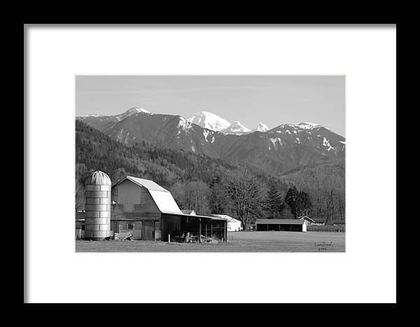 Black Framed Print featuring the photograph Mt. Baker Wine Country by J D Banks