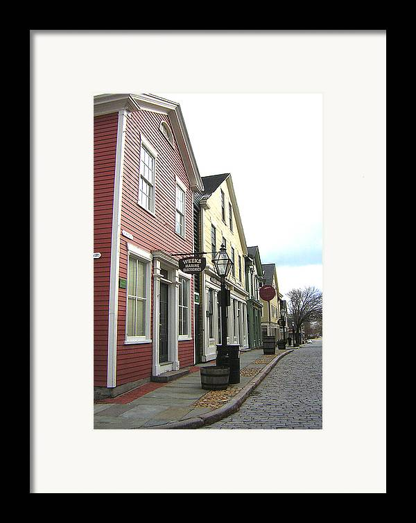 Street Framed Print featuring the photograph New Bedford Street by Heather Weikel