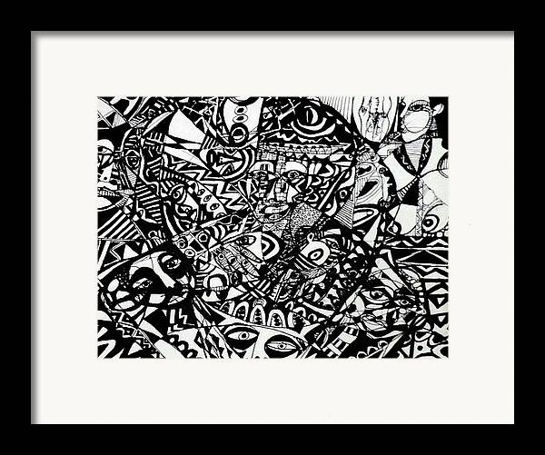 Framed Print featuring the drawing Of The Village by Robert Daniels