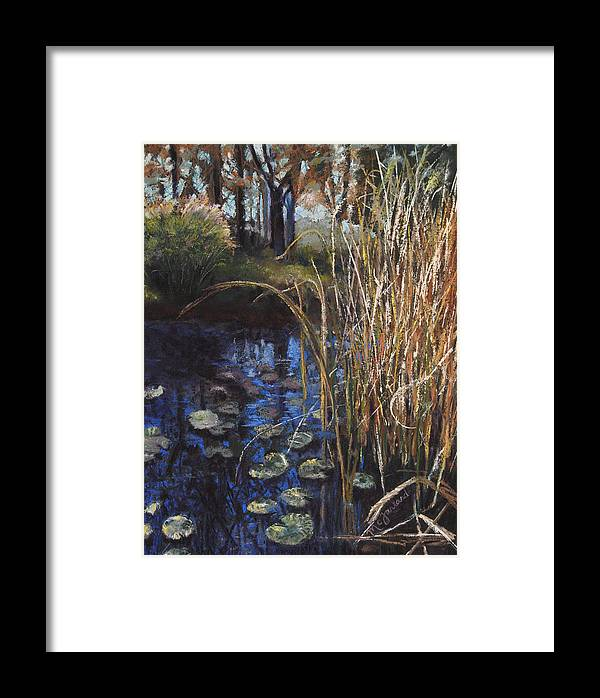 Lily Framed Print featuring the pastel Pads And Tails by Lorraine McFarland