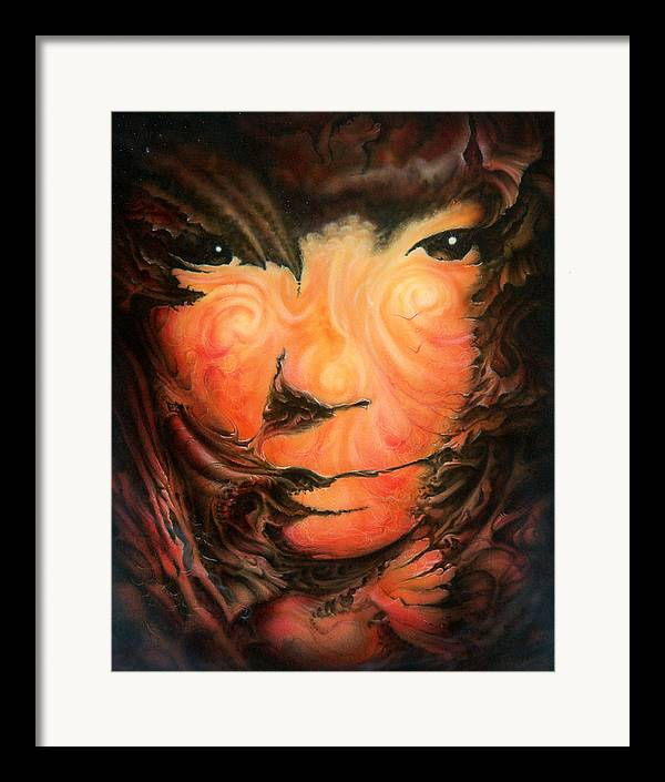 Abstract Framed Print featuring the painting Pagan Poet by Victor Whitmill