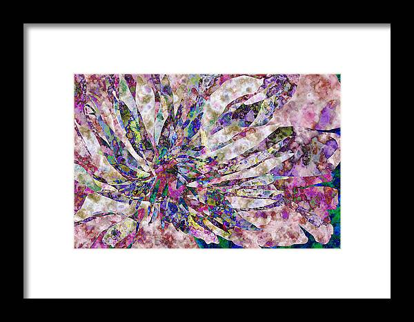 Flower Framed Print featuring the digital art Peony Burst by Gae Helton
