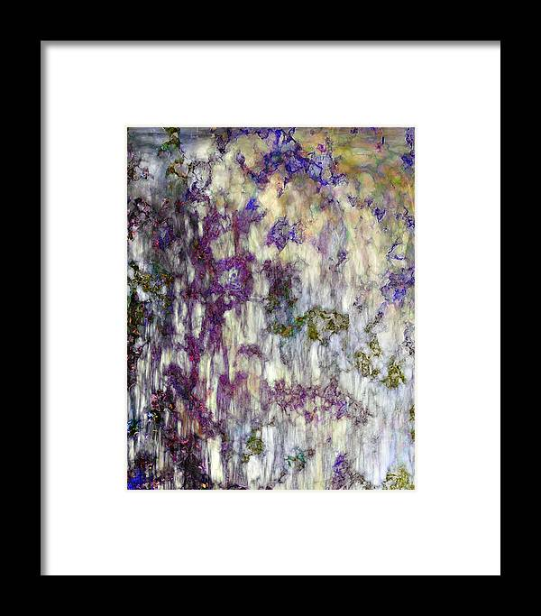 Abstract Framed Print featuring the digital art Petals In A Rainstorm by Gae Helton