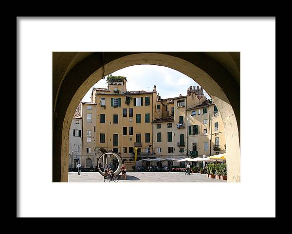 Piazza Framed Print featuring the photograph Piazza Antifeatro Lucca by Mathew Lodge