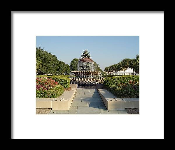 Charleston Framed Print featuring the photograph Pineapple Fountain by Richard Marcus