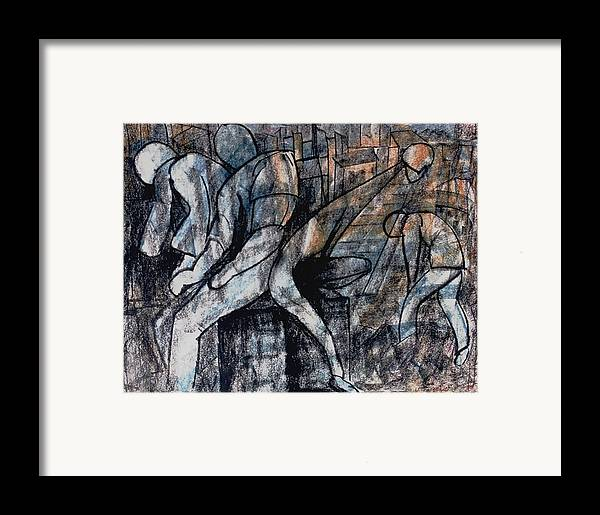 Art Framed Print featuring the drawing Post-modern Haste by Mushtaq Bhat