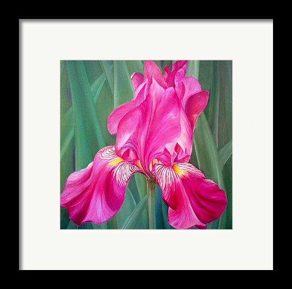 Flowers Framed Print featuring the painting Red Lilly by Elsa Gallegos