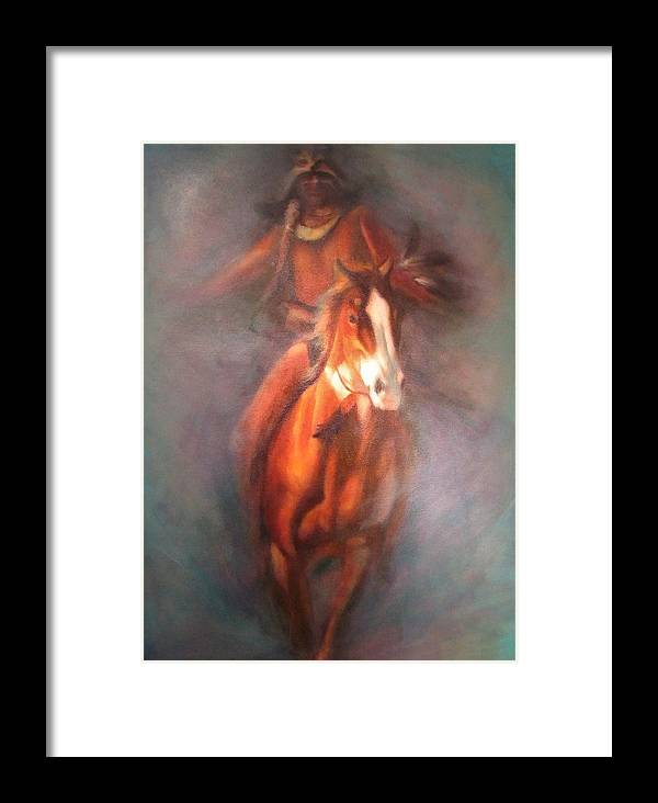 Native American Framed Print featuring the painting Return Of The Warrior by Elizabeth Silk
