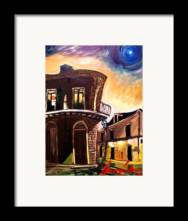 Cityscape Framed Print featuring the painting Royal St Sunrise 2 by Amzie Adams