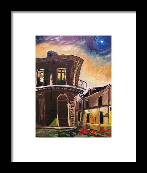 Cityscape Framed Print featuring the painting Royal St Sunrise by Amzie Adams