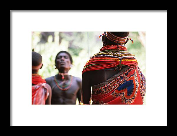 Dancers Framed Print featuring the photograph Samburu Tribe by Carl Purcell