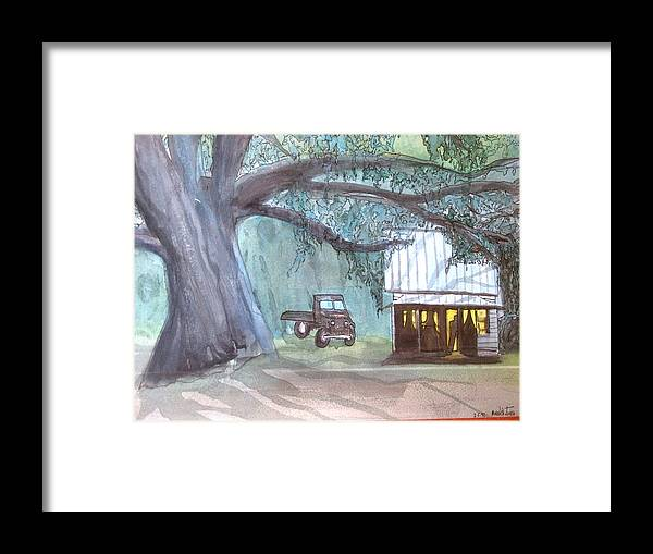 South Framed Print featuring the painting Savannas Backwoods by Meredith Jones
