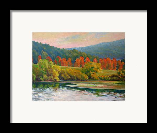 Landscape Framed Print featuring the painting Scarlet Ribbon by Keith Burgess