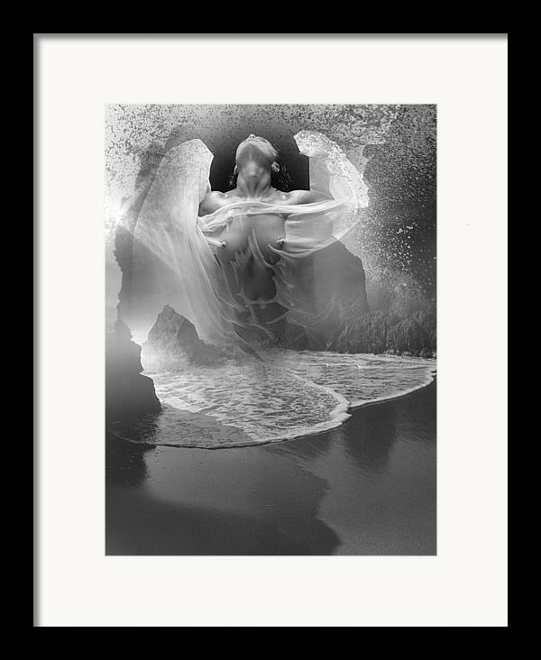 Seascape Framed Print featuring the photograph Sea Burst by Bob Bennett