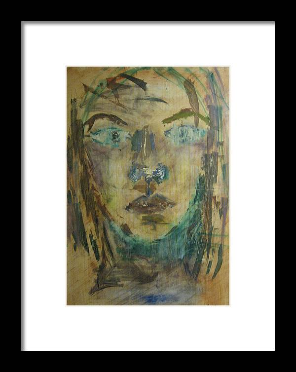 Self Portrait Framed Print featuring the painting Self Portrait by AmyJo Arndt