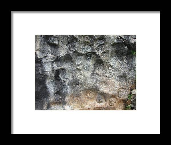 Photograph Softstone Soft Stone Newfoundland Atlantic Baieverte Framed Print featuring the photograph Softstone by Seon-Jeong Kim