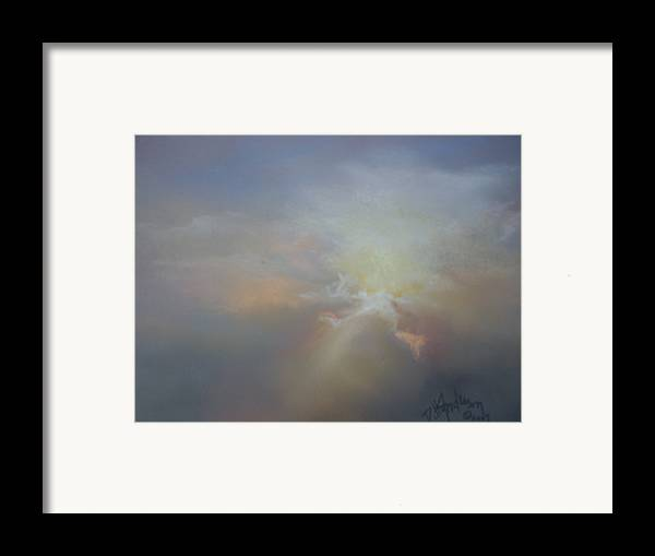 Skyscape Framed Print featuring the painting Spoken Softly by Debbie Anderson