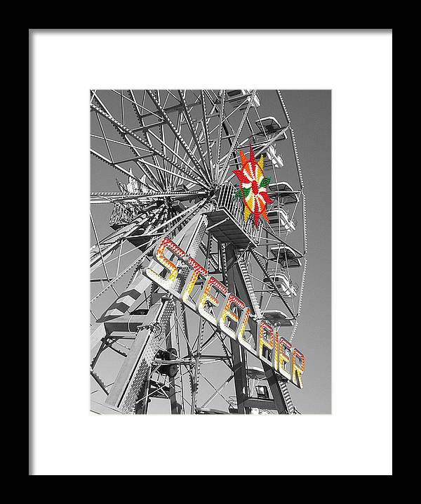 Steel Pier Framed Print featuring the photograph Steel Pier by Heather Weikel