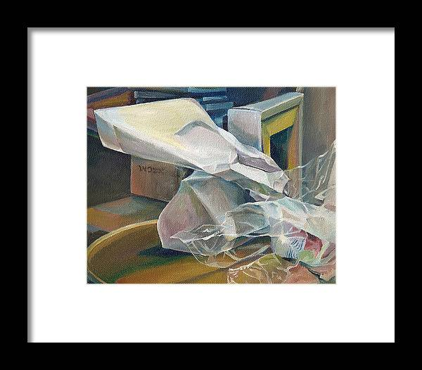 Still Life Framed Print featuring the painting Still Life No.3 by Julie Orsini Shakher