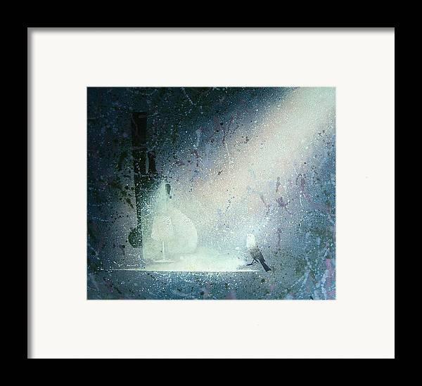 Still Life Framed Print featuring the painting Still Life With Bird by Andrej Vystropov
