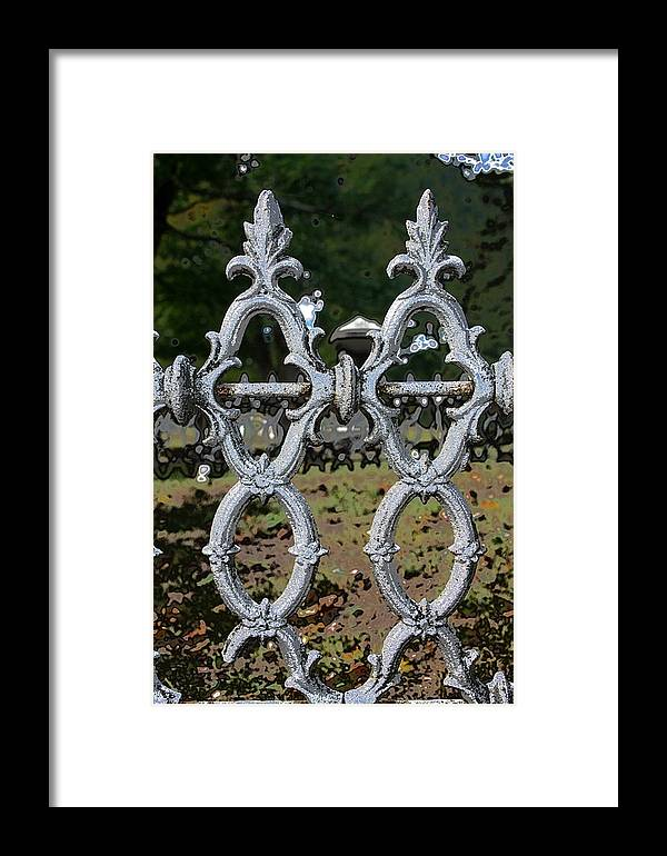 Scenic Framed Print featuring the photograph Stone Fence by Erin Rosenblum