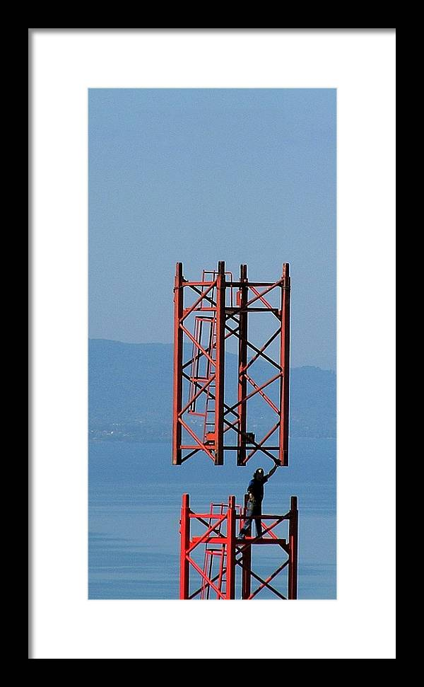 Construction Framed Print featuring the photograph Strong Man by Jean-Michel Ammon