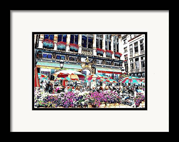 Brussels Framed Print featuring the photograph Sunny Day On The Grand Place by Carol Groenen