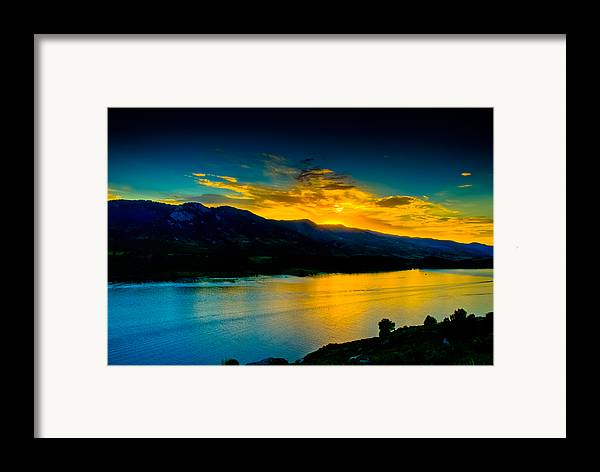 Sunset Framed Print featuring the photograph Sunset At Horsetooth Reservoir by Harry Strharsky
