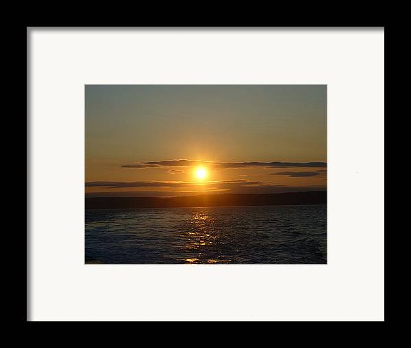 Sunset Framed Print featuring the photograph Sunset On The Horizon  1 by Sharon Stacey