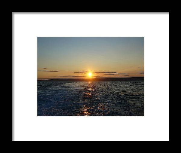 Sunset Framed Print featuring the photograph Sunset On The Horizon 2 by Sharon Stacey