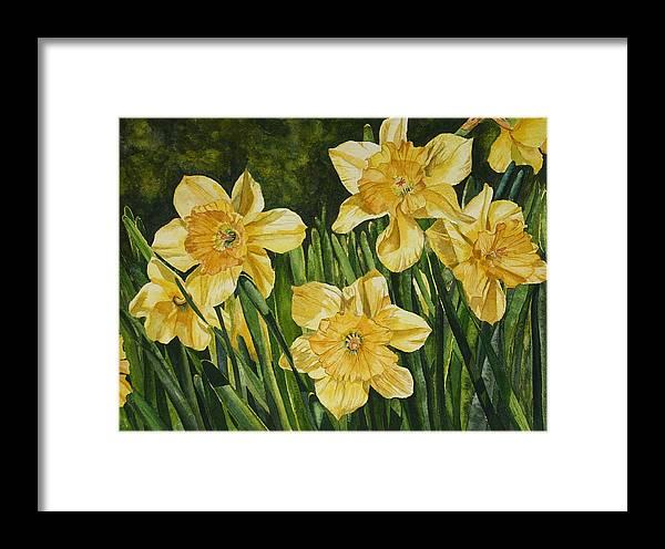 Flower Framed Print featuring the painting Sunshine Kisses by Helen Shideler