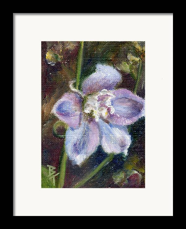 Flower Framed Print featuring the painting Sweet Bloom Aceo by Brenda Thour