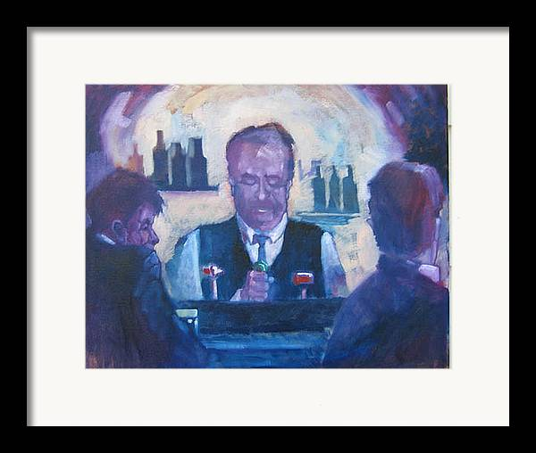 Figure Framed Print featuring the painting The Bartender by Kevin McKrell