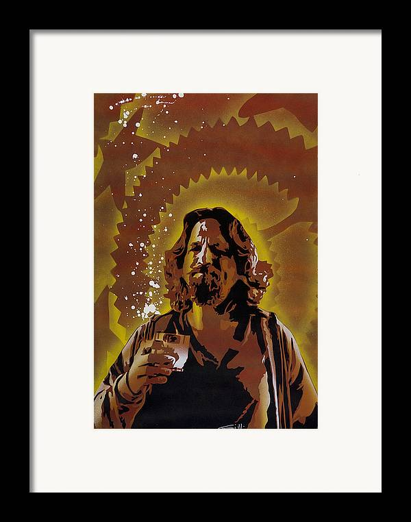 Pop Framed Print featuring the painting The Dude by Tai Taeoalii