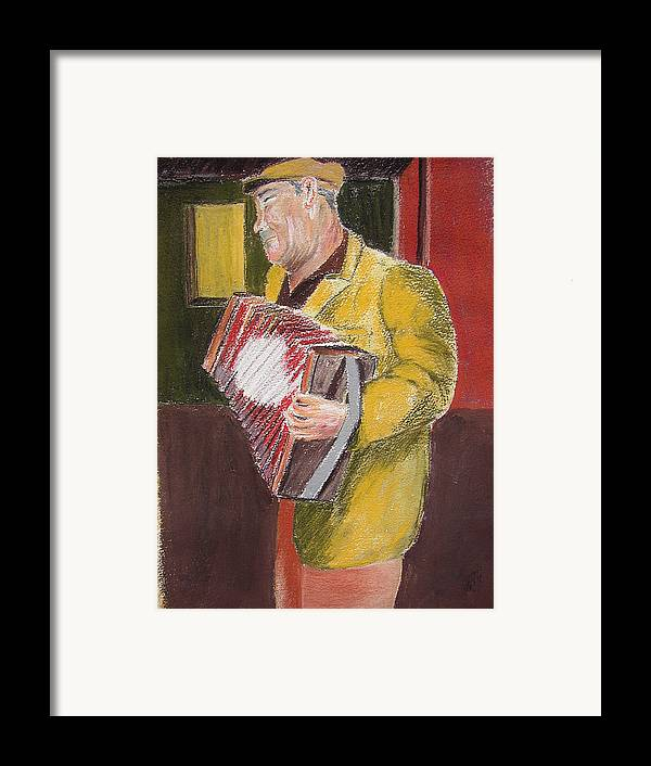 Figure Framed Print featuring the painting The Entertainer by Joe Lanni