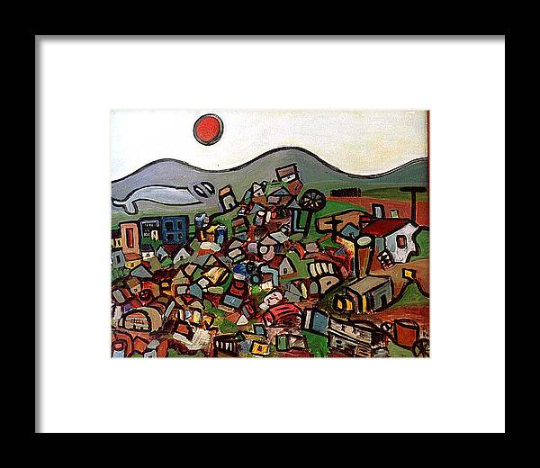 Montain Framed Print featuring the painting Trash Montain by Michael Keogh