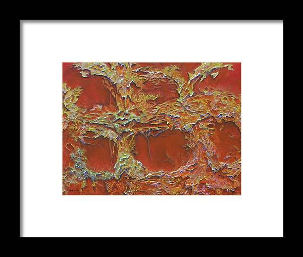 Abstract Framed Print featuring the painting Untitled 3 by M J Venrick