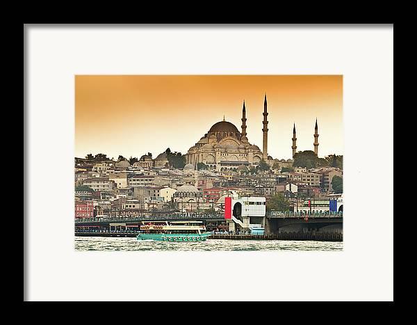 Horizontal Framed Print featuring the photograph View Of Istanbul by (C) Thanachai Wachiraworakam