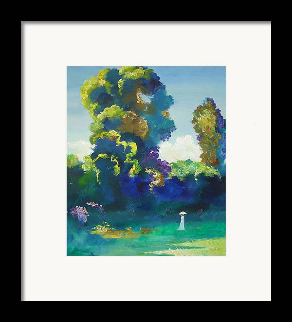 Landscape Framed Print featuring the painting Warm Evening by Andrej Vystropov