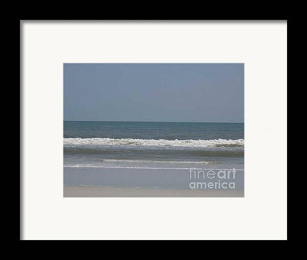 The Beach Near St. Augustine Framed Print featuring the photograph Watching The Waves by Barb Montanye Meseroll