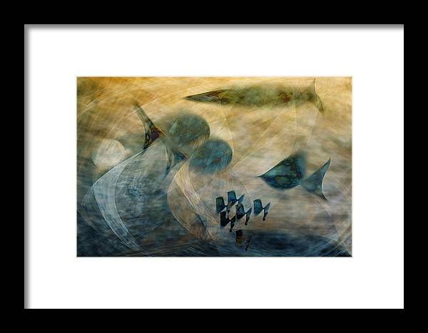 Fish Framed Print featuring the digital art Water World One by Gae Helton