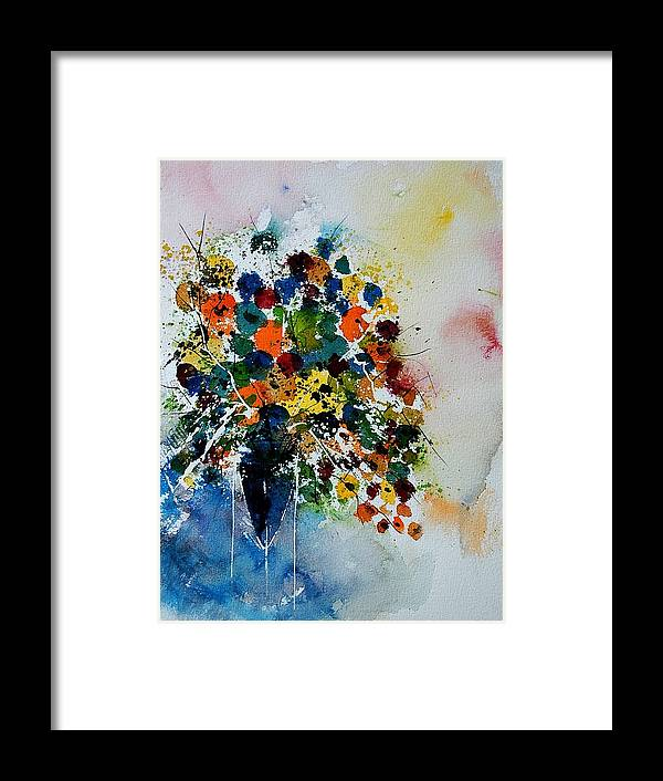 Flowers Framed Print featuring the painting Watercolor 220407 by Pol Ledent