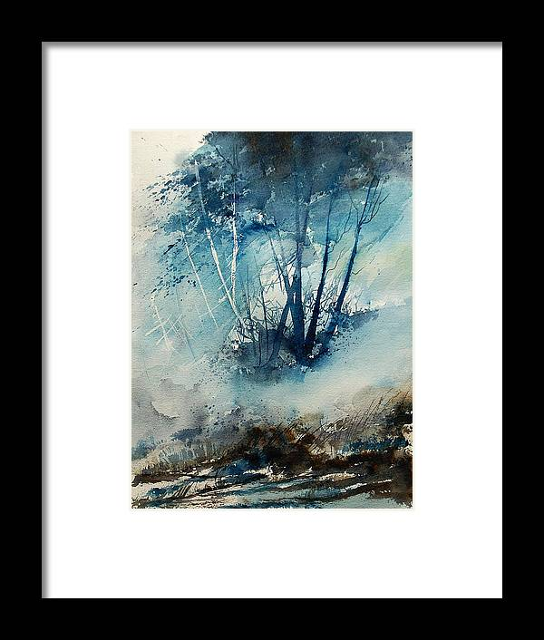 Tree Framed Print featuring the painting Watercolor 230907 by Pol Ledent