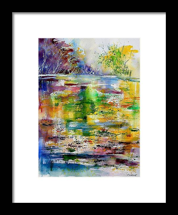Water Framed Print featuring the painting Watercolor 6878 by Pol Ledent