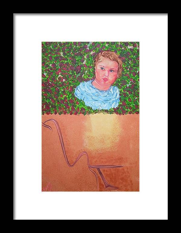 Art Framed Print featuring the painting Why They Love Us by Svetlana Vinokurtsev