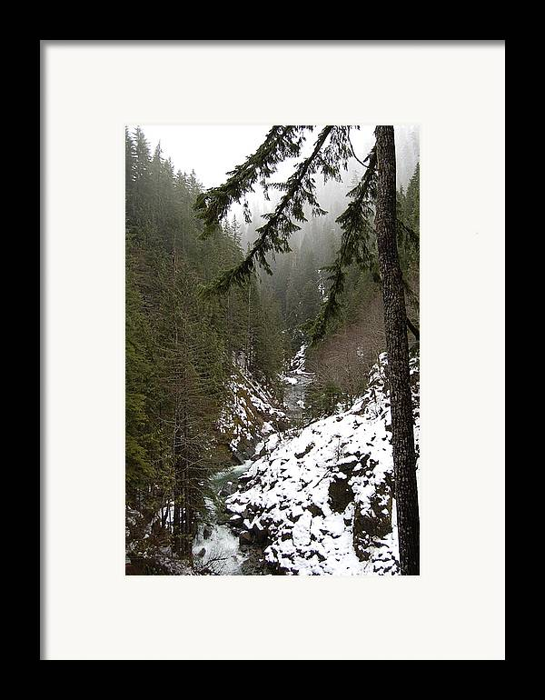 Mountain Framed Print featuring the photograph Winter by J D Banks