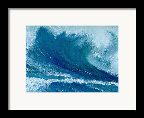 Wave Framed Print featuring the painting Winter Wave by Laura Johnson