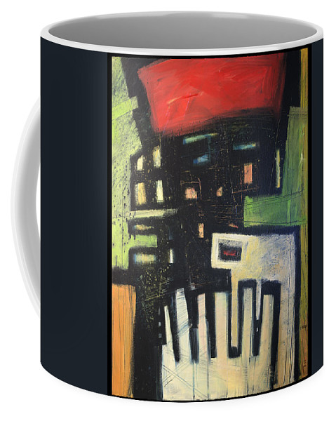 Abstract Coffee Mug featuring the painting D Flat by Tim Nyberg