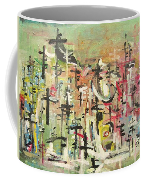 Blow Me Down Painting Coffee Mug featuring the painting Blow Me Down11 by Seon-Jeong Kim