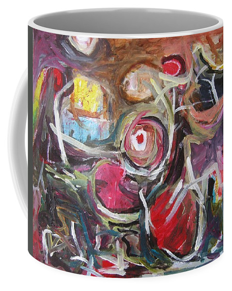 Abstract Paintings Coffee Mug featuring the painting Abandoned Ideas3 by Seon-Jeong Kim